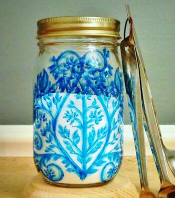 Blue Patterned Jar