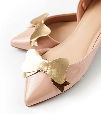 How To Make Gold Leather Bow Shoe Clips