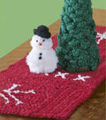 Yarn Snowman, Tree, Table Runner