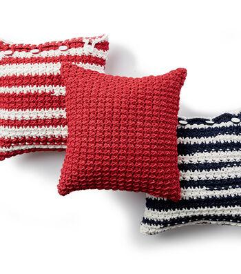 How To Make A Bernat Maker Outdoor Nautical Stripe Crochet Pillow
