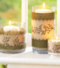 Wrapped Containers with Burlap and Stamped image