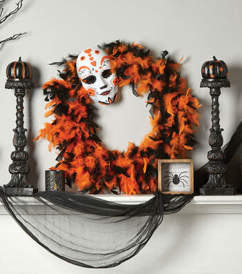 How To  Make A Halloween Mask Wreath