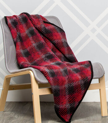 How To Make A Premier Yarns Everyday Plaid Buffalo Plaid Throw