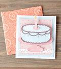 Printable Fabric Birthday Card