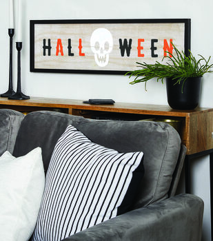 How To Make A Halloween Skeleton Sign