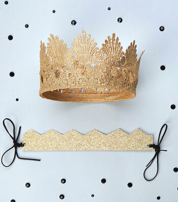 Fabric Trim and Paper Crowns