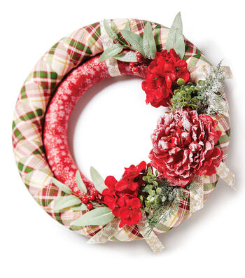 How To Make A Double Fabric Wrapped Wreath