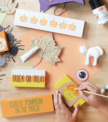 How To Make Painted Halloween Blocks