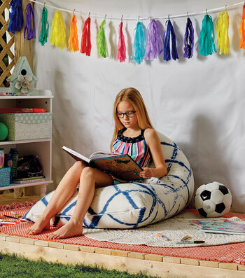 How To Make A Tie Dyed Bean Bag Chair