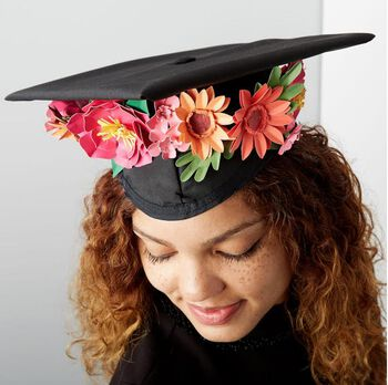 How To Make A Paper Flower Graduation Hat Embellishment