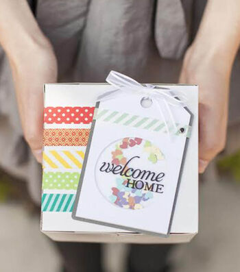 How To Make A Welcome Home Confetti Tag