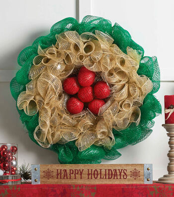 How To Make A Deco Mesh Holiday Flower