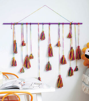 How To Make A Rainbow Tassel Wall Hanging