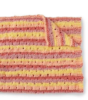 How To Make a Bernat Baby Bundle Knit Eyelet Baby Blanket