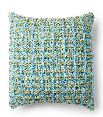 Basket Stitch Knit Pillow