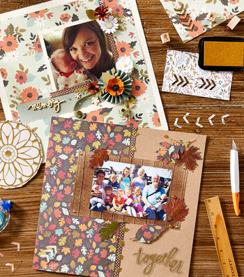 How To Make A Fall Scrapbook Page