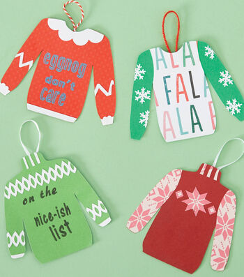 How To Make A Paper Ugly Sweater Ornaments