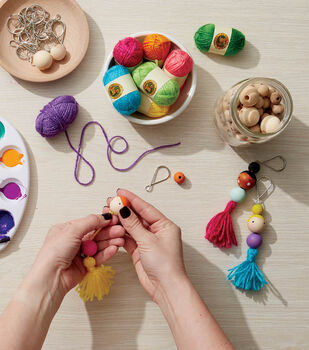 How To Make Wood Bead Doll Keychains