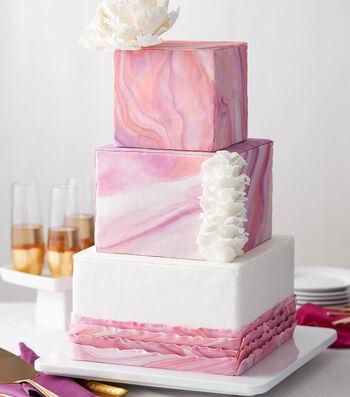 Make A Marbled Sunrose Wedding Cake