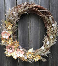 How To Make A Tattered Florals Wreath