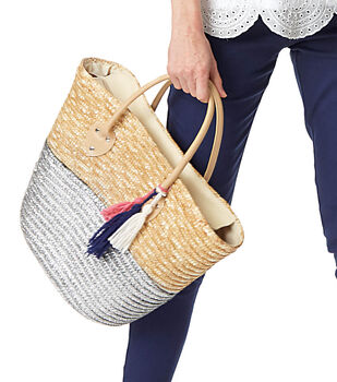 How To Make Decorate A  Straw Tote