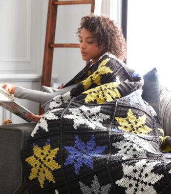 How To Crochet A Snowflake Crochet Blanket