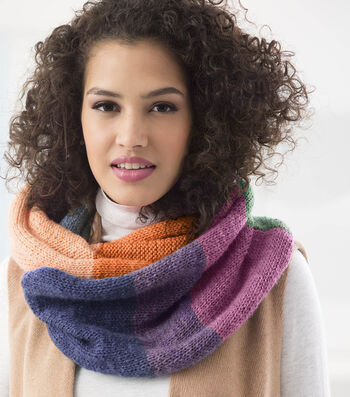 How To Make a Lion Brand Wool Ease Cakes Sterling Place Cowl