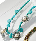 Bliss Turquoise and Silver with Pearls Slider Necklace