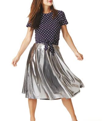 How To Make A Metallic Flare Skirt