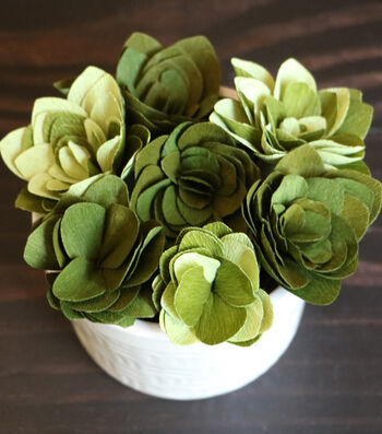 How To Make A Crepe Paper Succulent