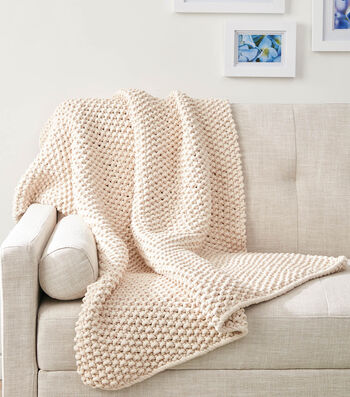 How to Make A Knit Seed Stitch Throw