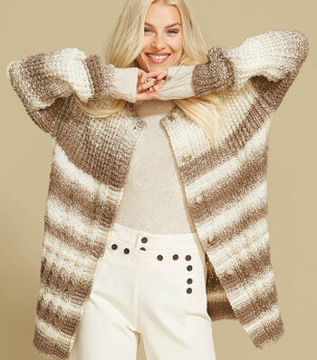 How to Make a Lion Brand Scarfie Knit Kondo Cardigan