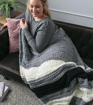 How to Make a Bernat alize EZ Bold Stripes Blanket