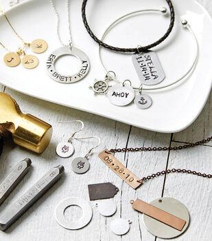 Bronze Hand Stamped Necklace