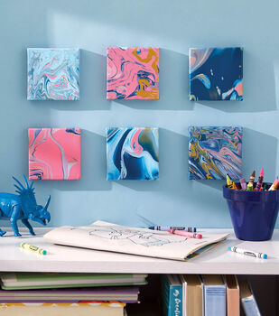 How To Make a Paint Pour Mini Canvases