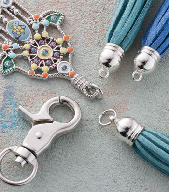 Make A Hamsa And Tassel Keychain