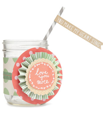 Love You More Jar with Straw