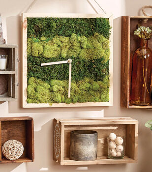 How To Make a Moss Wood Clock