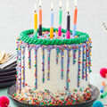 How To Make A Bright and Bold Drip Birthday Cake