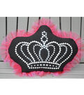 Square By Design Sculptured Pillow with Tulle and Rhinestones