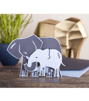 How To Make A Mama & Baby Elephant Cricut Card