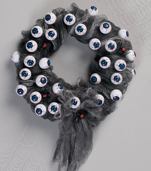 The Eyes Have It Halloween Wreath