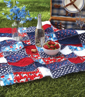 How To Make A Patriotic Rag Quilt