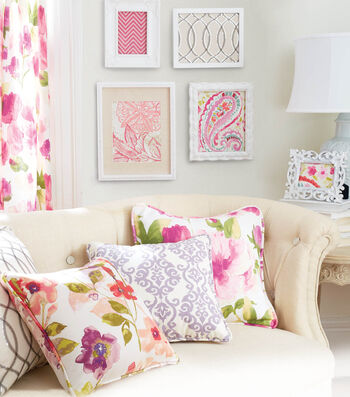 White Frames with Fabric