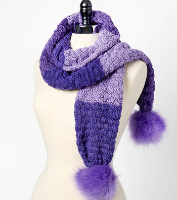 How To Make A Sweet Roll Ribbed Buttercream Pom Pom Knit Scarf