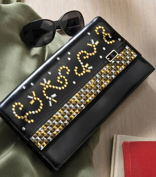How To Make a Upcycled Studded Clutch