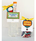 David Tutera Celebrate Card:  Celebrate Your Day Water Bottle and Treat Bag Topper