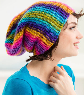 How To Knit A Rainbow Ridges Hat
