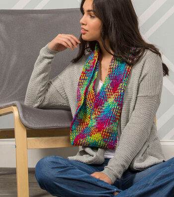 How To Make A Premier Yarns Everyday Plaid Highland Fling Cowl
