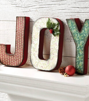 How To Make Painted JOY Letters